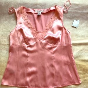 NINE WEST pink silk top
